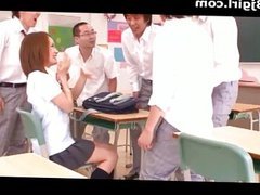 A Japanese School Girl Gets Cum In Her Class