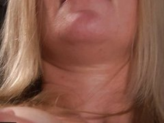 Wet amateur blonde toys herself to an orgasm