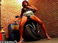 Horny Black Biker Slut Nude Solo