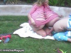 Two horny girls with massive