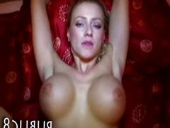 Huge juggs Eurobabe stuffed for money