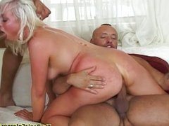 Hot Blonde Take Double Penetration