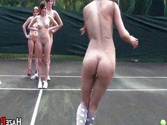 Tennis Hotties In Short Skirts Get Hazed