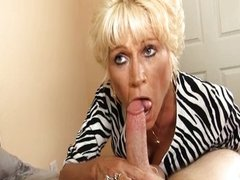 Horny Mature Lady Sucks A Big Cock