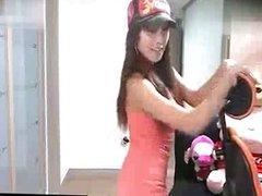 Sexy Korean webcam girl dancing