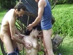 French farmer girl fucked by strangers