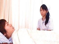 Aino Kishi Japanese nurse shows off her
