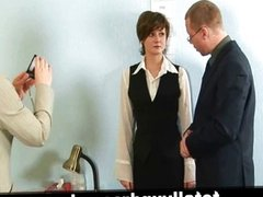 Nude job interview for young secretary