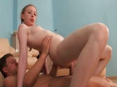 Teen pretty spreads for man on hot girl