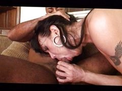 Horny shemale loves riding his hard meat