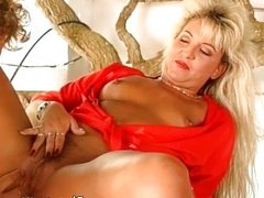 Hot and horny blonde milf takes big cock