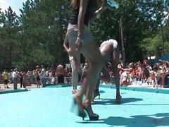 Dirty horny sluts go crazy stripping