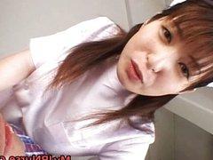 Ann Nanba Lovely Asian babe licks