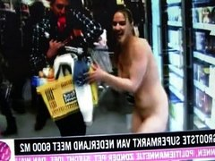 5 minutes free shopping in supermarket, NAKED