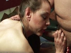 Nasty brunette whore gets fucked doggy