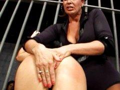 Lesbian masturbating session in prison