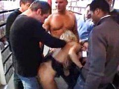 Crazy Blond porn shop