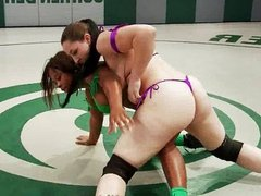 Strap on wrestling match
