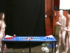 Strip Beer Pong with Johnny, Joe, Kat, and Da