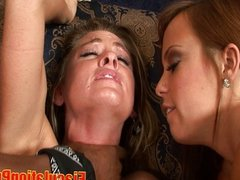 Two Hot Blonde Nailed By Two Black Cock