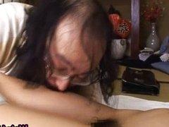 Milf mika osawa gets a vibrator on pussy