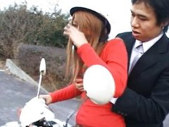 Free jav of Japanese flasher gets some