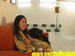 Nasty blow job by 18 amateur teen at casting