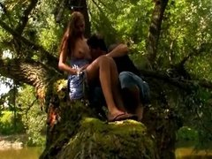 Babe fucked in forest