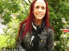 Amateur gypsy redhead slut hardcore in public