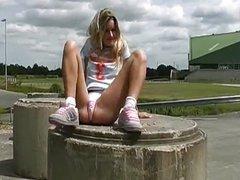 teen solo outdoors