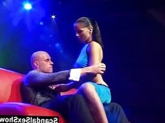 Couple having sex on stage