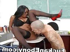 Tattoo Guy Fucking Busty Ebony In Classroom