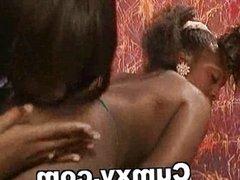 Strapon Ebony Lesbian Sex Big Melons
