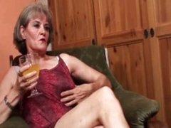 Mature blonde lesbian get horny making
