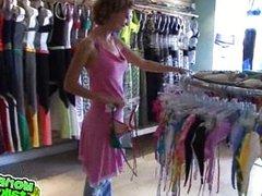 bikini shop show down.