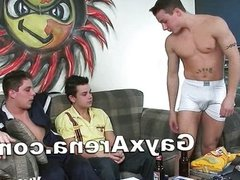 Gay Threesome Assfucking And Oral