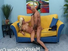 Hot Blonde Brandi is wet and ready to fuck