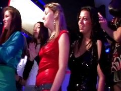 Group of horny euro girls going crazy