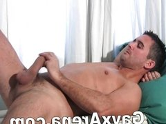 Gay Horny Guy Masturbating With Big Cock