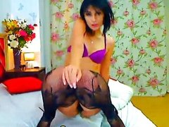 Cutie Rides her Dildo Smoothly HD