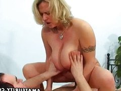 Busty amateur wife sucks and fucks