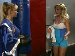 Busty Tanya Danielle lesbian workout