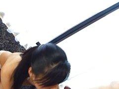 Hot Asian babe enjoys jizz