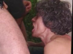 Eva Delage - Granny fucked by two bad boys
