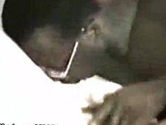 Black guy fingering and eating white pussy