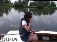 Amateur teen paid cash to fuck on her boat