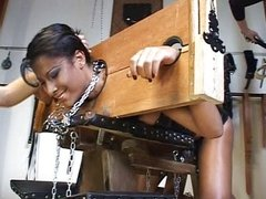 Shemale fetish spanking leather session