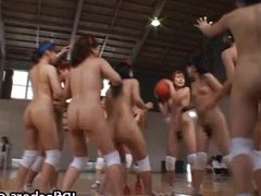 Asian basketball players are naked