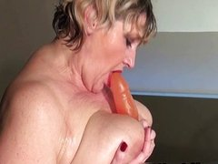 Horny mature mom wearing a sexy