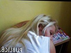 Schoolgirl amateur teen anal in the library